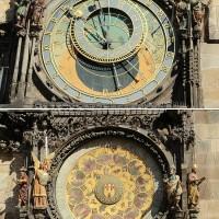 El rellotge astronòmic; les figures es mouen a cada hora en punt