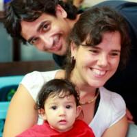 L'Ona amb l'Elisenda i el Sergi