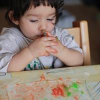 """""""Pintant"""" amb pintures casolanes"""