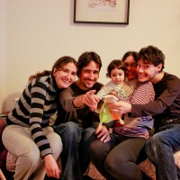 Beth, Sergi, Ona, Sílvia, Gil