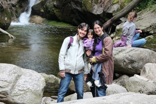 A la cascada de Szklarska Poręba