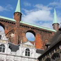 Detall de la plaça major de Lübeck
